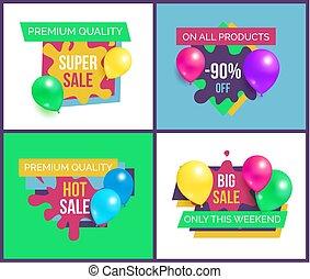 alla, av, försäljning, produkter, 90, premie, fullständig, kvalitet