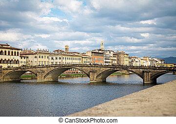 Alla Carraia bridge in Florence, Italy