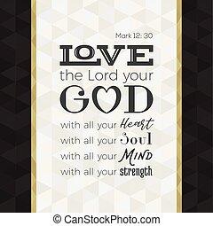 alla, styrka, älska hjärta, affisch, gud, eller, själ, ...