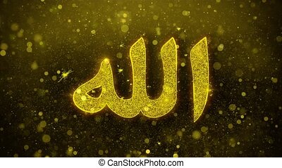 Allah, islam, muslim, god, religion Icon Golden Glitter...