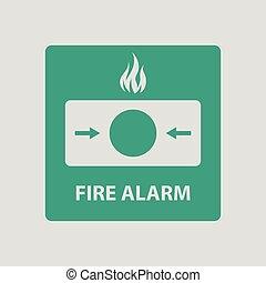 allarme antincendio, icona