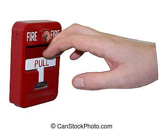 allarme antincendio, isolato