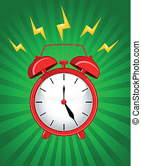 allarme, classico, fondo, orologio