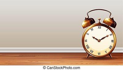allarme, classico, sagoma, orologio