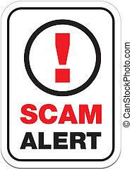 allarme, scam, segno