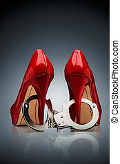 alledaags, zonde, /, een, schoen, slave.