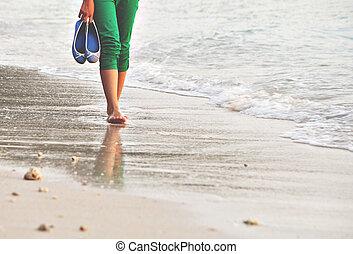 alleen, wandeling