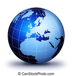 alleen, wereld, globe!