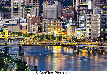 Allegheny River - Pittsburgh, Pennsylvania on the Allegheny...