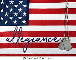 allegiance with dog tags
