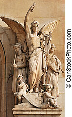 Allegory. - Sculpture at facade of Opera Garnier: ...