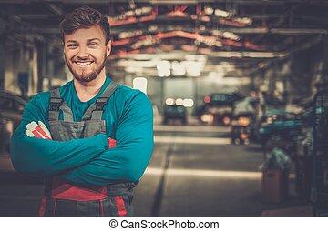 allegro, automobile, officina, tecnico di assistenza