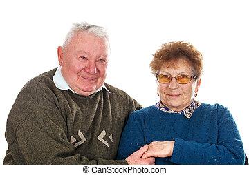allegro, coppia, vecchio
