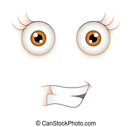 allegro, espressione, faccia