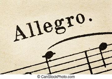 allegro - fast music tempo - allegro - fast, quickly and ...