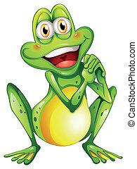 allegro, rana verde