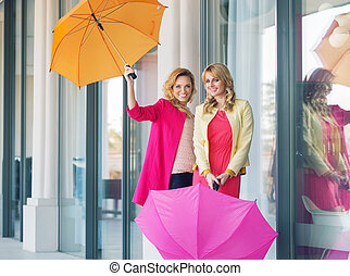 allegro, signore, proposta, ombrelli