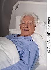 alleine, pflegeheim, alter mann