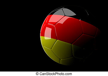 allemagne, fond, balle, sombre, football