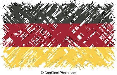 allemagne, vecteur, grunge, illustration., flag.