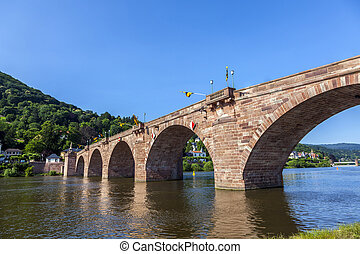 allemagne, vieux, -, pont, heidelberg