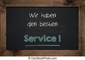 allemand, écriture, reussite, business, tableau