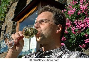 allemand, apprécier, vin
