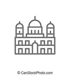allemand, cathédrale berlin, repère, icon., ligne