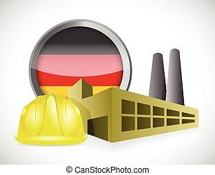 allemand, conception, usine, illustration