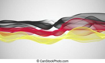 allemand, couleur, drapeau, animation, boucle
