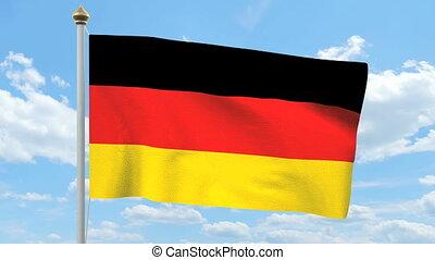 allemand, drapeau ondulant