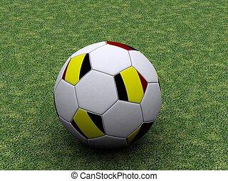 Allemand, football, balle