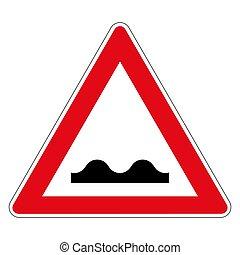 allemand, inégal, 112, chaussée, panneaux signalisations