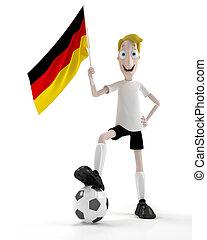allemand, joueur, football