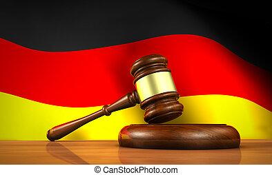 allemand, justice, concept, droit & loi