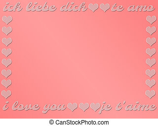 "allemand, languages:, amour, card., cadeau, valentine, ""i, francais, you"", quatre, anglaise, mots, espagnol, day."