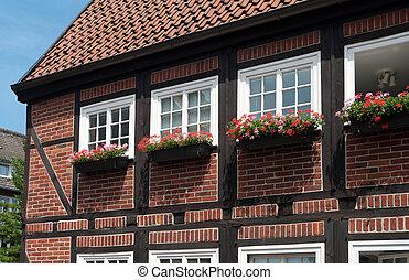 allemand, maison, typique