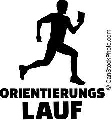 allemand, orienteering, silhouette