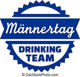 allemand, pères, équipe, boire, jour
