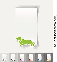 allemand, réaliste, badger-dog, conception, element.