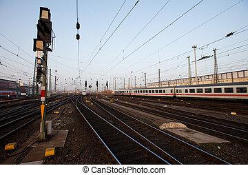allemand, rail, signal, yard