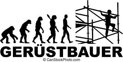 allemand, scaffolder, évolution, métier, titre