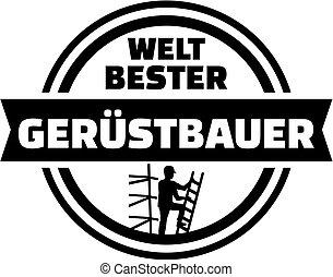 allemand, scaffolder, bouton, monde, mieux