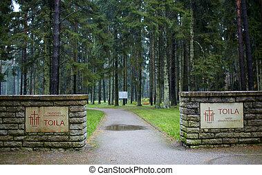 allemand, soldats, cimetière, estonia., toila