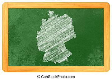 allemand, tableau noir