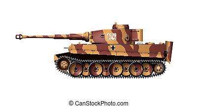 allemand, tigre, -, réservoirs
