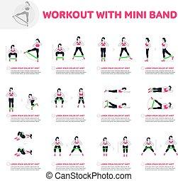 allenamento, con, mini, banda