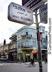 Allenby Street in Tel Aviv, Israel - TEL AVIV -JAN 27:...