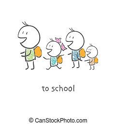 aller, écoliers