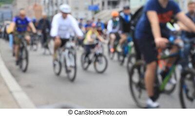 aller, amateur, cavalcade, bicycles, gens, vélo